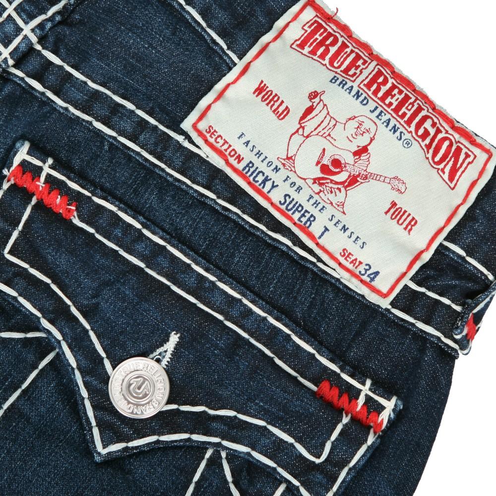 a4cc18df0 Mens Blue True Religion Ricky Super T Assassination Wash Straight Jean