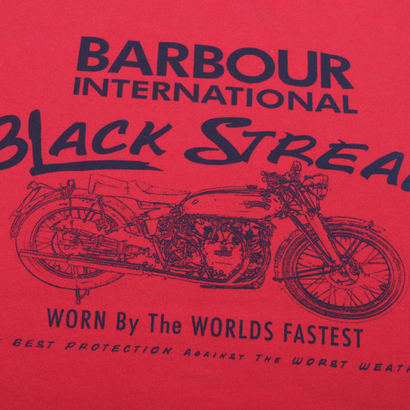 Barbour Lifestyle Boys Red Barbour Boys Circuit Tee main image