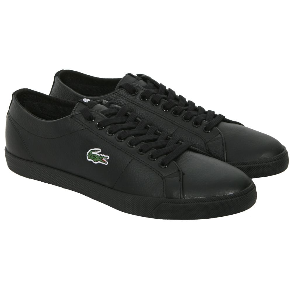 25b80d95f29b7e Lacoste Marcel Black Black CI Spm Leather Trainer main image