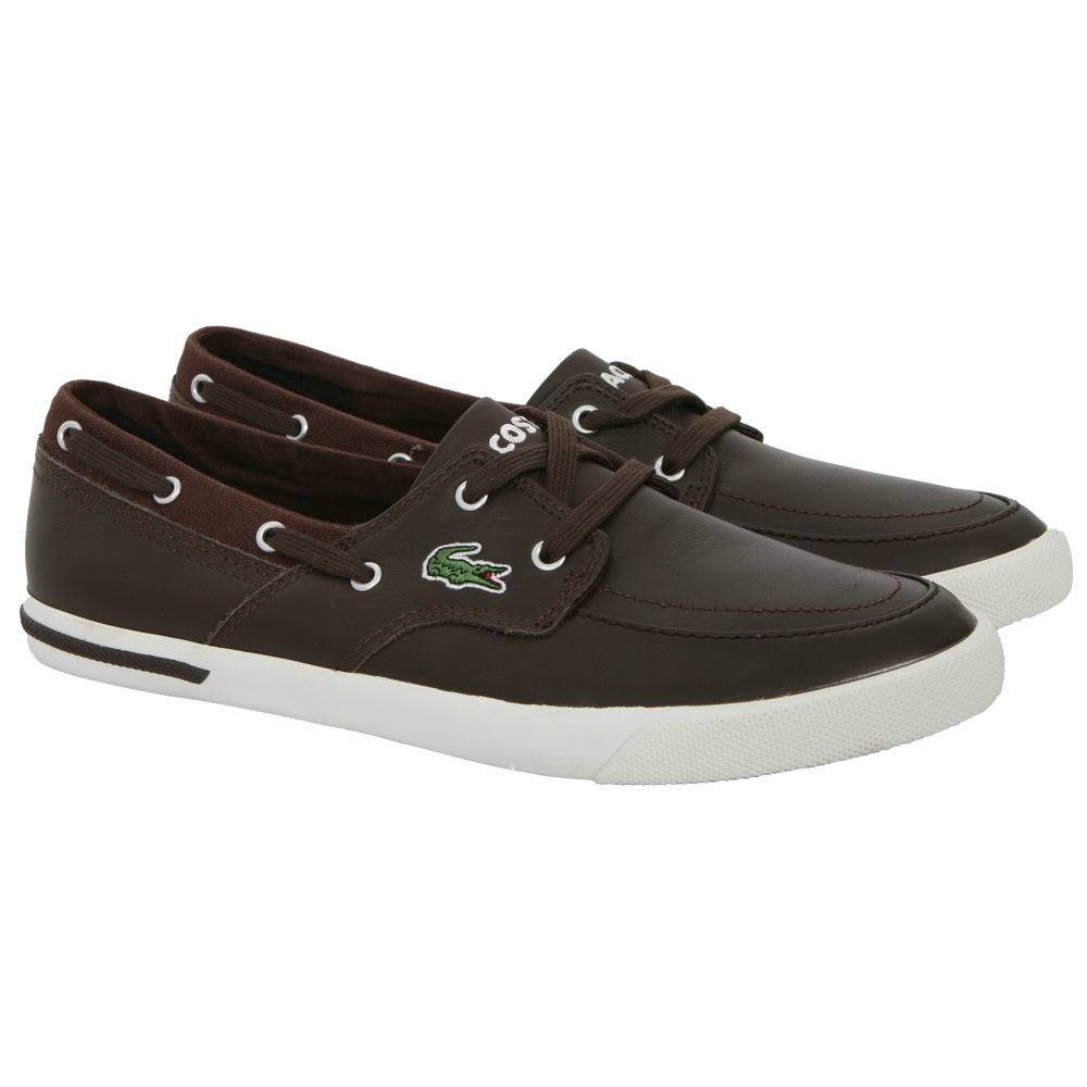 3be813d97b3bfa Lacoste Newton Brown Boat Shoe main image