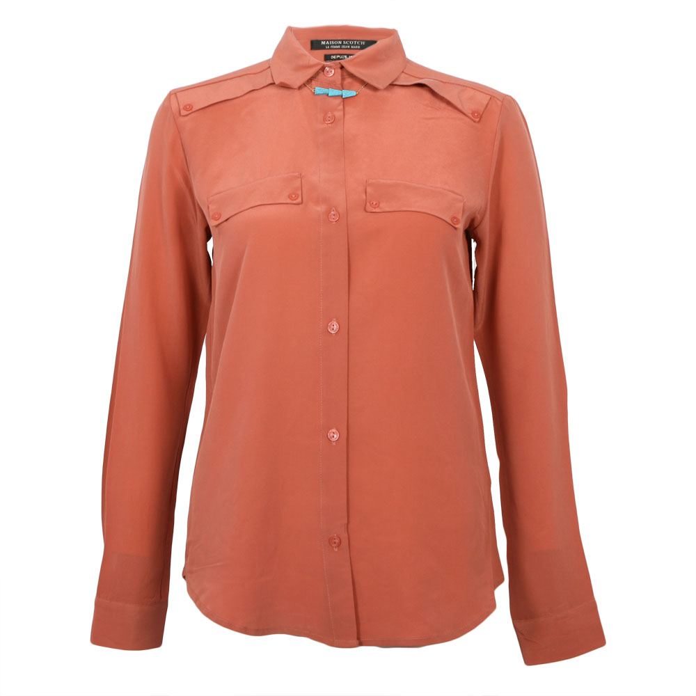 Clean Look Silk Shirt With Necklace main image