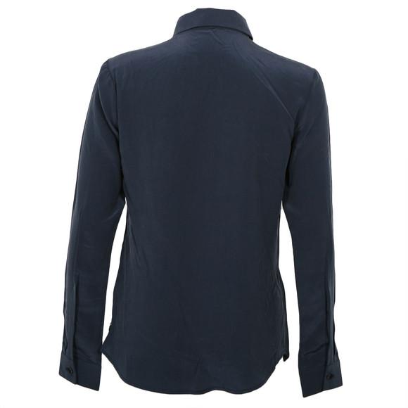 Maison Scotch Womens Blue Maison Scotch Clean Look Silk Shirt With Necklace main image