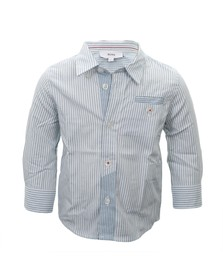 Boss Boys Blue Boss Boys J05164 Stripe Shirt