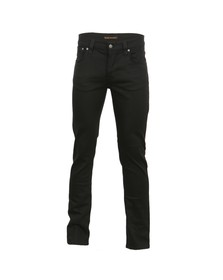 Nudie Jeans Mens Black Grim Tim Black Ring Jean