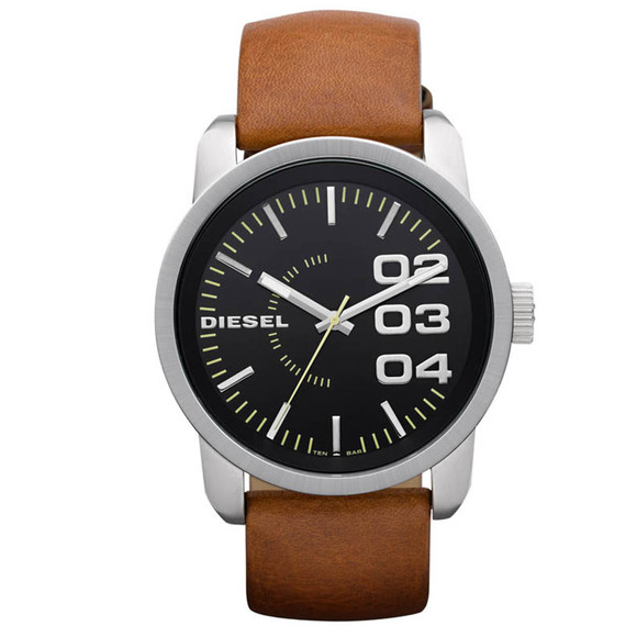 Diesel Mens Brown Diesel DZ1513 Franchise 46 Round Watch main image