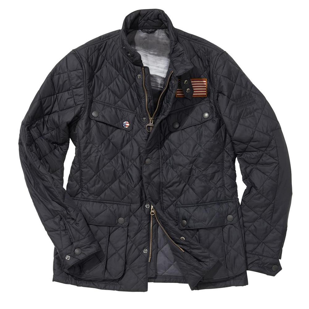33b3ceaa8f6 Barbour Int. Steve McQueen Barbour Steve McQueen Jefferies Navy Quilted  Jacket