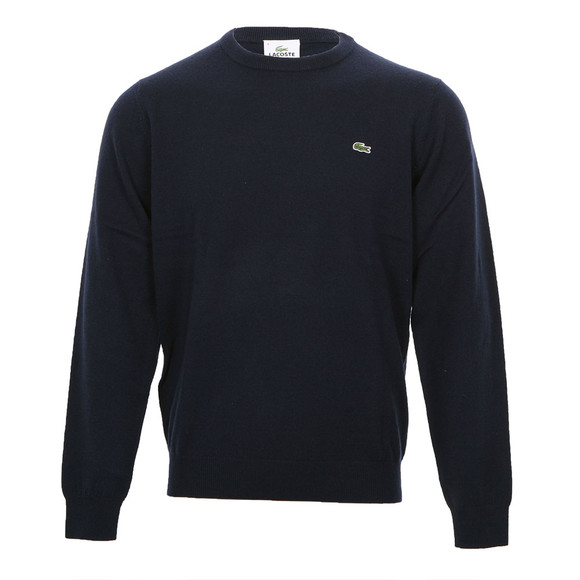 Lacoste Mens Blue Lacoste Eclipse New Wool Knitted Crew Neck Jumper main image