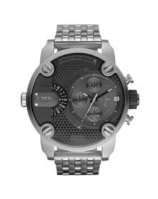 Diesel Mens Grey Diesel DZ7259 Little Daddy Large Metal Strap Watch