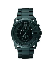 Diesel Mens Black Diesel DZ4180 Master Chief Round Metal Strap Watch