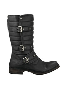 Ugg Womens Black Tatum Leather Boot