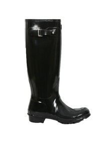 Hunter Womens Black Original Tall Gloss Wellington