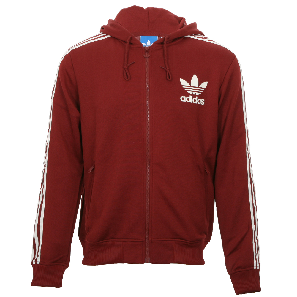 8e155cd4527cfa adidas Originals Mens Red Adidas X52725 Hooded Flock Track Top main image.  Loading zoom