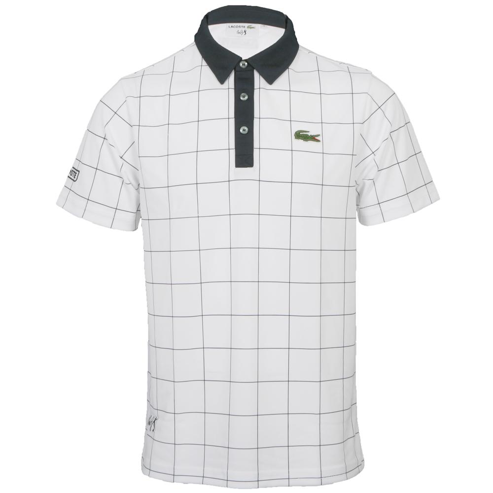 e095fdbf Lacoste Sport Mens White Lacoste DH5209 Check Polo Shirt main image.  Loading zoom