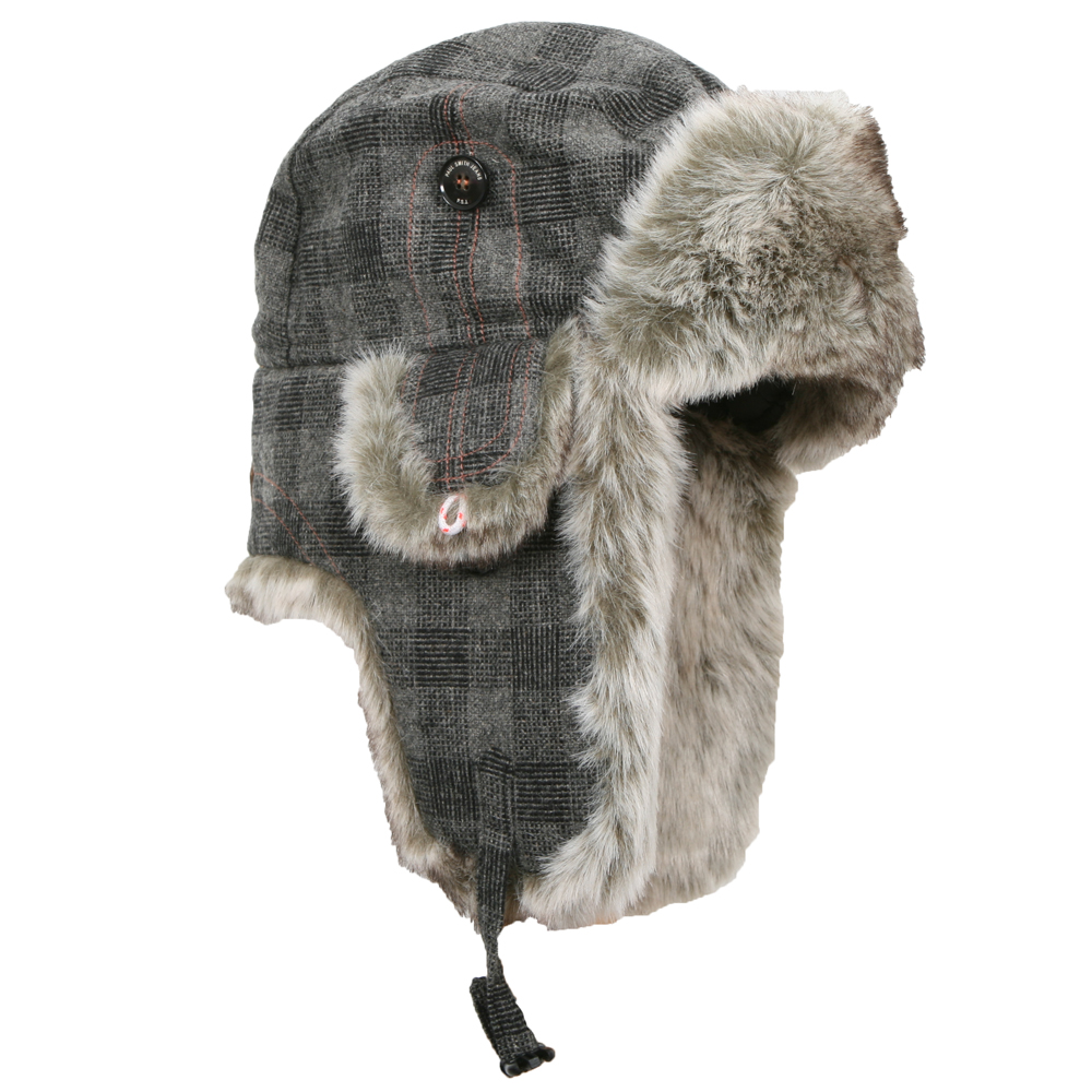 58c585bef9307 Paul Smith Jeans Mens Grey Paul Smith Trapper Hat