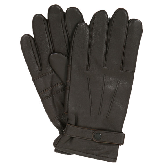 Barbour Lifestyle Mens Brown Burnished Leather Glove main image