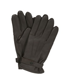 Barbour Lifestyle Mens Brown Burnished Leather Glove