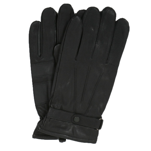 Barbour Lifestyle Mens Black Burnished Leather Glove