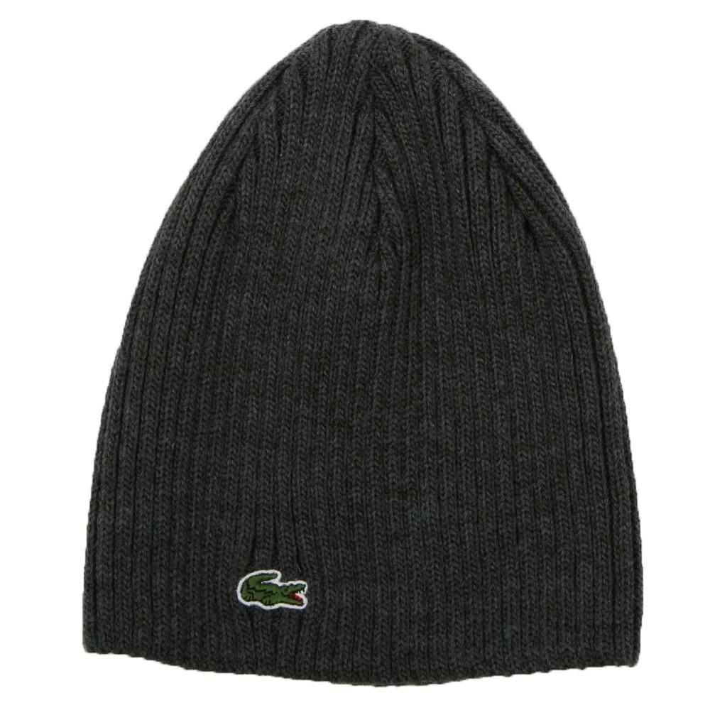 08ba89dc8 Mens Grey Lacoste Basic Beanie Hat