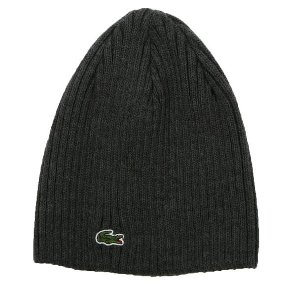 Lacoste Mens Grey Lacoste Basic Beanie Hat main image 72d2995d14