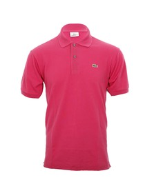 Lacoste Mens Pink L1212 Pitaya Plain Polo Shirt