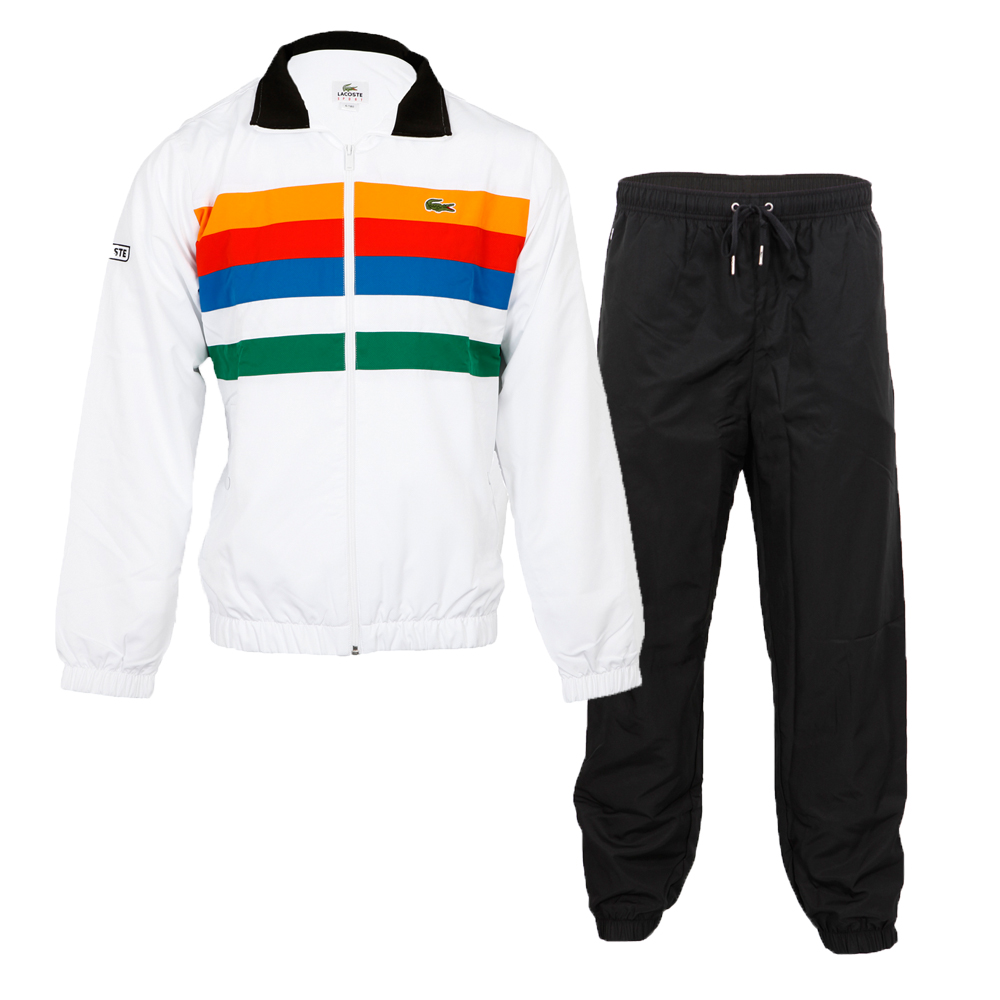 Lacoste Mens White Lacoste Sport WH5226 Tracksuit main image. Loading zoom