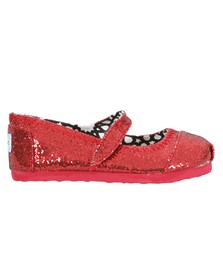 Toms Girls Red Toms Mary Jane Shoe
