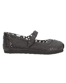 Toms Girls Black Toms Mary Jane Shoe