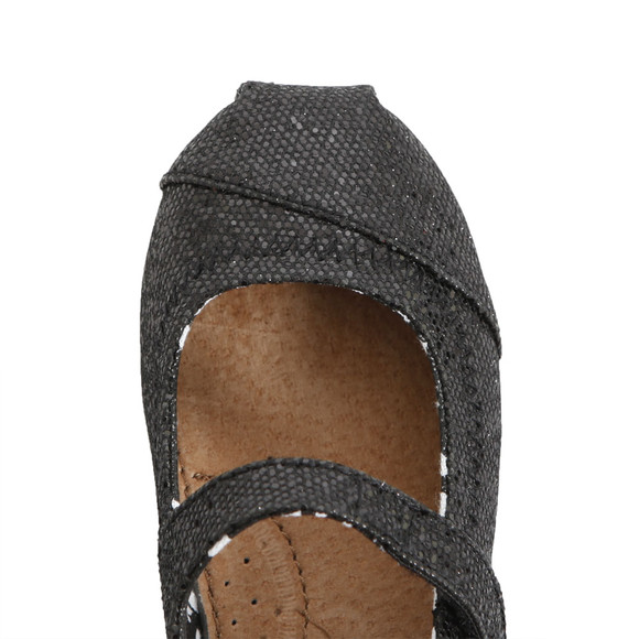 Toms Girls Black Toms Mary Jane Shoe main image