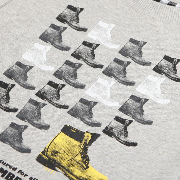 Timberland Boys Grey Timberland Long Sleeve Boots Tee main image
