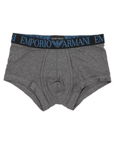 Emporio Armani Mens Grey Emporio Armani Stretch Cotton Tonal Logo Trunk