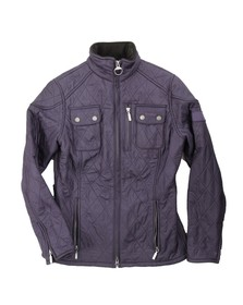 Barbour International Womens Purple Trials Polarquilt Jacket