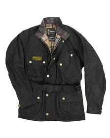 Barbour International Mens Black Original Wax Jacket