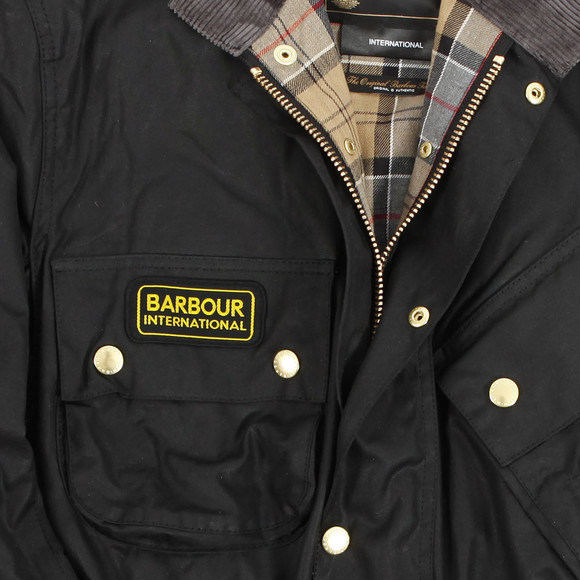 Barbour International Mens Black Original Wax Jacket main image