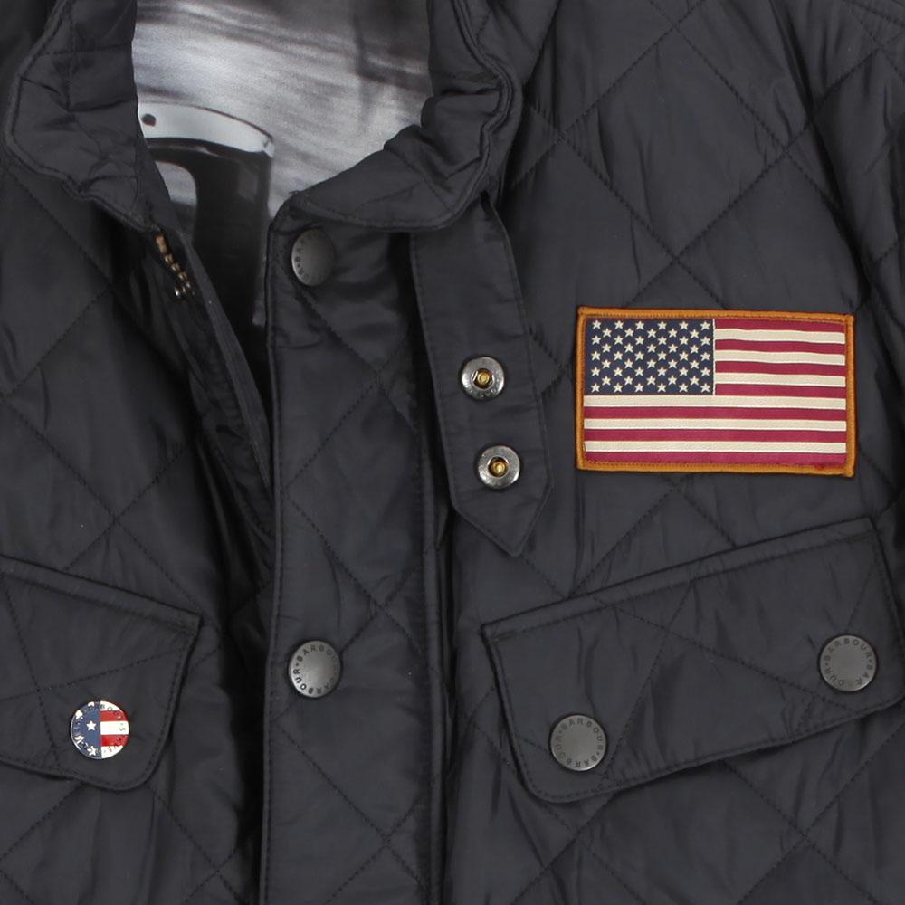 Barbour Int. Steve McQueen Barbour Steve McQueen Jefferies Black ... : steve mcqueen quilted jacket - Adamdwight.com