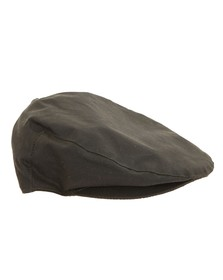 Barbour Countrywear Mens Green Wax Flat Cap