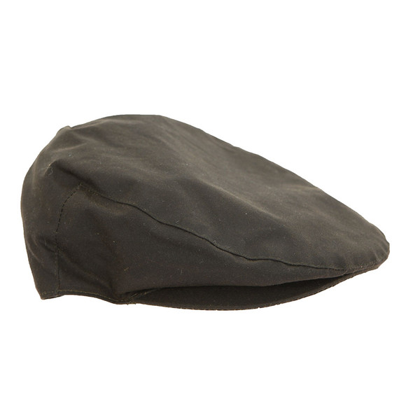 Barbour Countrywear Mens Green Wax Flat Cap main image