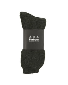 Barbour Lifestyle Mens Green Wellington Calf Sock