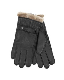 Barbour Lifestyle Mens Black Leather Utility Glove