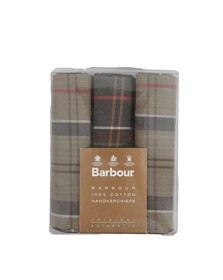 Barbour Lifestyle Mens Blue Tartan Handkerchiefs