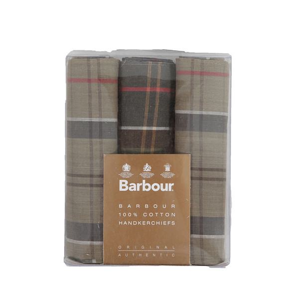 Barbour Lifestyle Mens Black Tartan Handkerchiefs main image