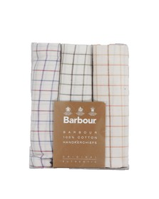 Barbour Lifestyle Mens White Tattersall Check Multi Handkerchiefs