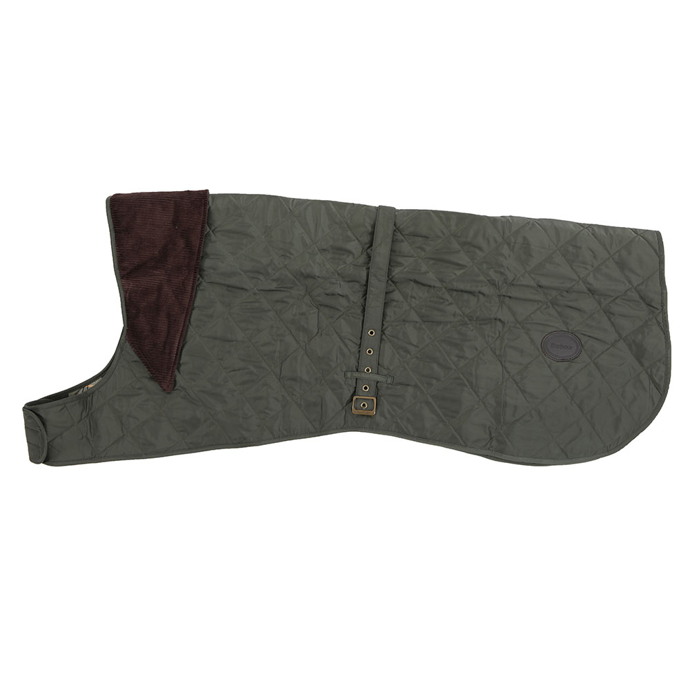Barbour Green Quilted Dog Coat main image
