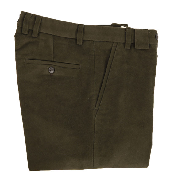 Barbour Sporting  Mens Green Traditional Fit Moleskin main image