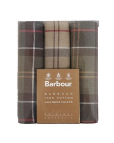 Barbour Lifestyle Mens Brown Tartan Handkerchiefs
