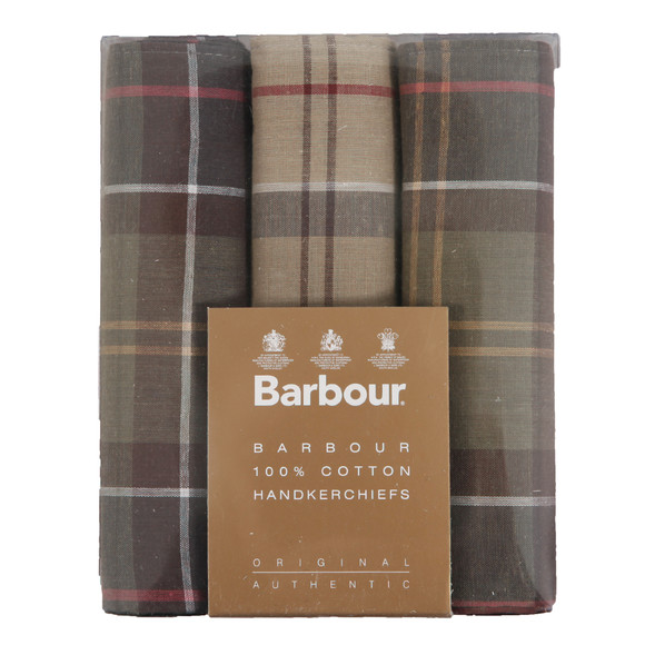 Barbour Lifestyle Mens Brown Tartan Handkerchiefs main image