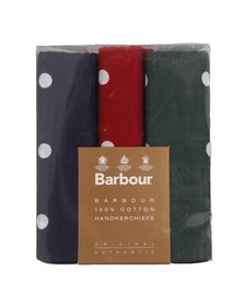 Barbour Lifestyle Mens Black Spotted Handkerchief