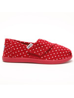 Toms Girls Classic Red Dot Slip On