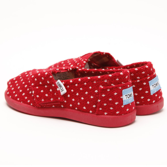 Toms Girls Red Toms Girls Classic Red Dot Slip On main image