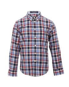 Gant Boys Red Gant Boys M.M. Laundered Poplin Check Shirt