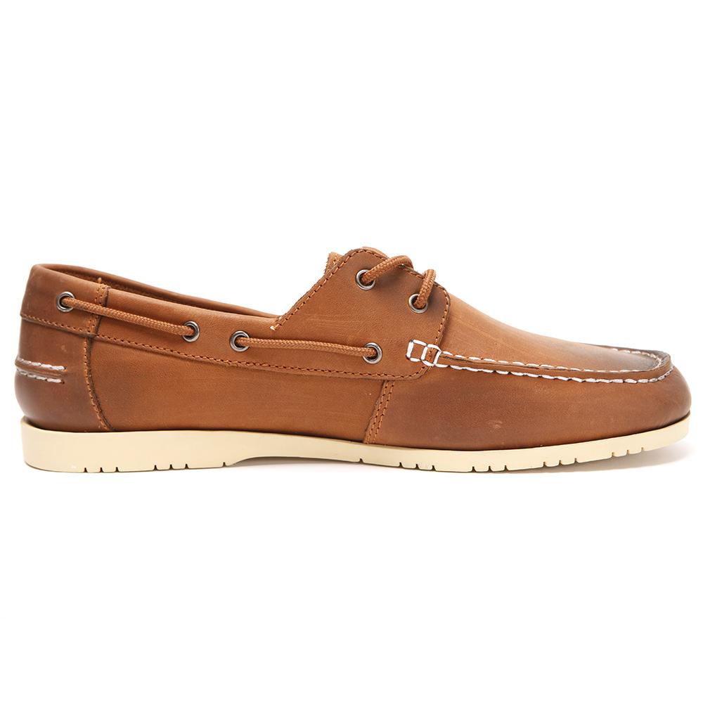 118938a1c04e Lacoste Corbon Dark Tan Boat Shoe main image